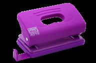 @Дырокол пластиковый, RUBBER TOUCH, до 10 л., 120х58х59 мм, фиолетовый