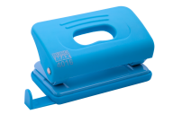 @Дырокол пластиковый, RUBBER TOUCH, до 10 л., 120х58х59 мм, голубой