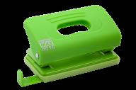 @Дырокол пластиковый, RUBBER TOUCH, до 10 л., 120х58х59 мм, светло-зеленый
