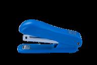 ^$Степлер пластиковый (круглый), JOBMAX, 10 л., (скобы №10), 90x39x24 мм, синий