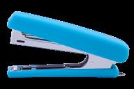 Степлер пластиковый, RUBBER TOUCH, 12 л., (скобы №10), 107х25х54 мм, голубой