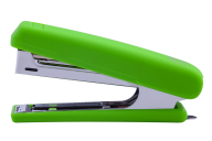 Степлер пластиковый, RUBBER TOUCH, 12 л., (скобы №10), 107х25х54 мм, светло-зеленый