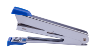 @Степлер металлический, 12 л., (скобы №10), 94x42x21 мм, синий