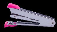 ^@Степлер металлический, 12 л., (скобы №10), 94x42x21 мм, розовый