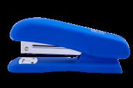 Степлер пластиковый, RUBBER TOUCH, 20 арк., (скобы №24; 26), 127х54х33 мм, синий