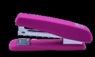 @Степлер пластиковый, RUBBER TOUCH, 20 л., (скобы №24; 26),122х50х32 мм, розовый