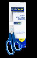 Ножницы, 215 мм, ассиметр.ручки, с голуб.рез.вставками, синие