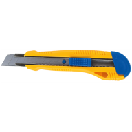 $Нож универсальный, 18 мм, пластиковый корпус