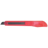 ^$Нож канцелярский, JOBMAX, 9 мм, с мех.фиксатором лезвий, пластиковый корпус