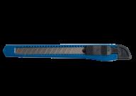 Нож канцелярский, JOBMAX, 9 мм, пластиковый корпус, синий