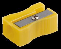 #@$Точилка прямоугольная BLOCK, JOBMAX,  1 отв., пластик. корпус, ассорти