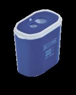 Точилка прямоугольная DRUM, 2 отв., контейнер, пластик. корпус, ассорти