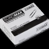 $Скрепки оцинкованные, JOBMAX, 25 мм, круглые, 100 шт., в карт.упаковке
