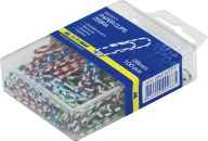 Скрепки цветные ЗЕБРА, 28 мм, 100 шт. в пласт.упаковці