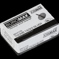 ^$Кнопки никелированные, JOBMAX, 50 шт. в карт.коробке