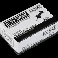 ^$Кнопки-гвоздики цветные, JOBMAX, 25 шт. в карт.коробке