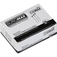 #Шпильки цветные, JOBMAX, 34 мм, 100 шт. в картон. коробке