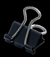 ^$Биндер-зажим, 15 мм, черный, по 12 шт. в карт.коробке