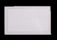 ^$Бейдж-идентификатор горизонтальный, пласт., 90х55 мм, с метал. зажимом и булавкой