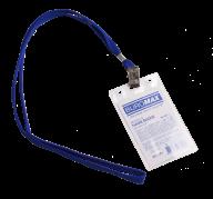 Бейдж-идентификатор верт., пласт., 64*108 мм, со шнурком на клипе