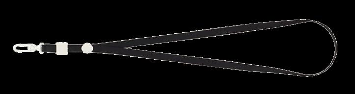 Шнурок с карабином для бейджа-идентификатора, 460х10 мм, черный