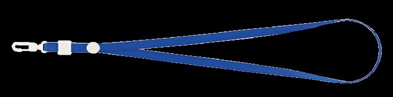 Шнурок с карабином для бейджа-идентификатора, 460х10 мм, синий