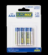 ^Набор эл.питания (батарейка) BUROMAX LR03 (AАA),  4шт/упак