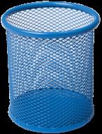 Подставка для ручек круглая, металлическая, синяя