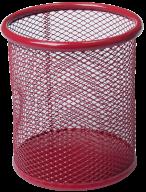 Подставка для ручек круглая, металлическая, красная