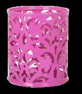 Подставка для ручек, BAROCCO, металлическая, розовая