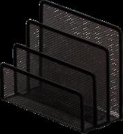 $Подставка для писем, металлическая, 175х80х140 мм, черная