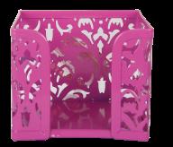Бокс для бумаг, BAROCCO, металлический, розовый