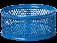 Подставка для скрепок, металлическая, синяя