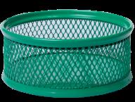 Подставка для скрепок, металлическая, зеленая