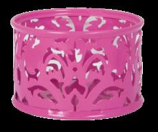 Подставка для скрепок, BAROCCO, металлическая, розовая