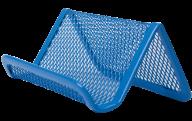 Подставка для визиток, металлическая, синяя