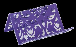 Подставка для визиток, BAROCCO, металлическая, фиолетовая