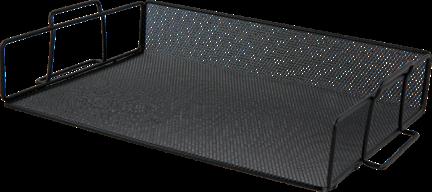 $Лоток для бумаг горизонтальный, металлический, черный