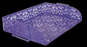 Лоток для бумаг горизонтальный, BAROCCO, металлический, фиолетовый
