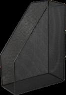 $Лоток для бумаг вертикальный, металлический, черный