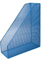 Лоток для бумаг вертикальный, металлический, синий