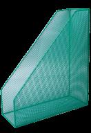 Лоток для бумаг вертикальный, металлический, зеленый