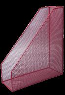 Лоток для бумаг вертикальный, металлический, красный