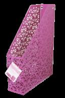 Лоток вертикальный, BAROCCO, металлический, розовый