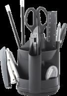 Набор настольный, JOBMAX, с наполнением (13 предметов), пластиковый, черный