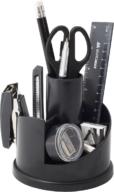 Набор настольный, с наполнением (13 предметов), пластиковый, черный