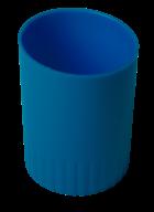 /Стакан пластиковый для письменных принадлежностей, JOBMAX, синий