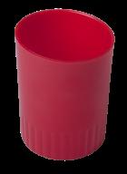 /Стакан пластиковый для письменных принадлежностей, JOBMAX, красный