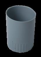/Стакан пластиковый для письменных принадлежностей, JOBMAX, серый
