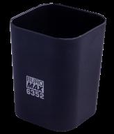 #@$Стакан пластиковый для канц. принадлежностей, RUBBER TOUCH , черный